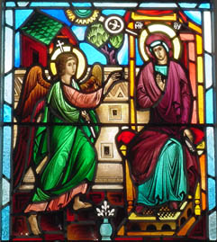 Photo of the Holy Annunciation Stained Glass Window